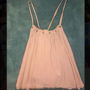Free People Cross Back Pink Tank Top